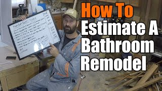 How To Estimate A Bathroom Remodel | THE HANDYMAN BUSINESS |