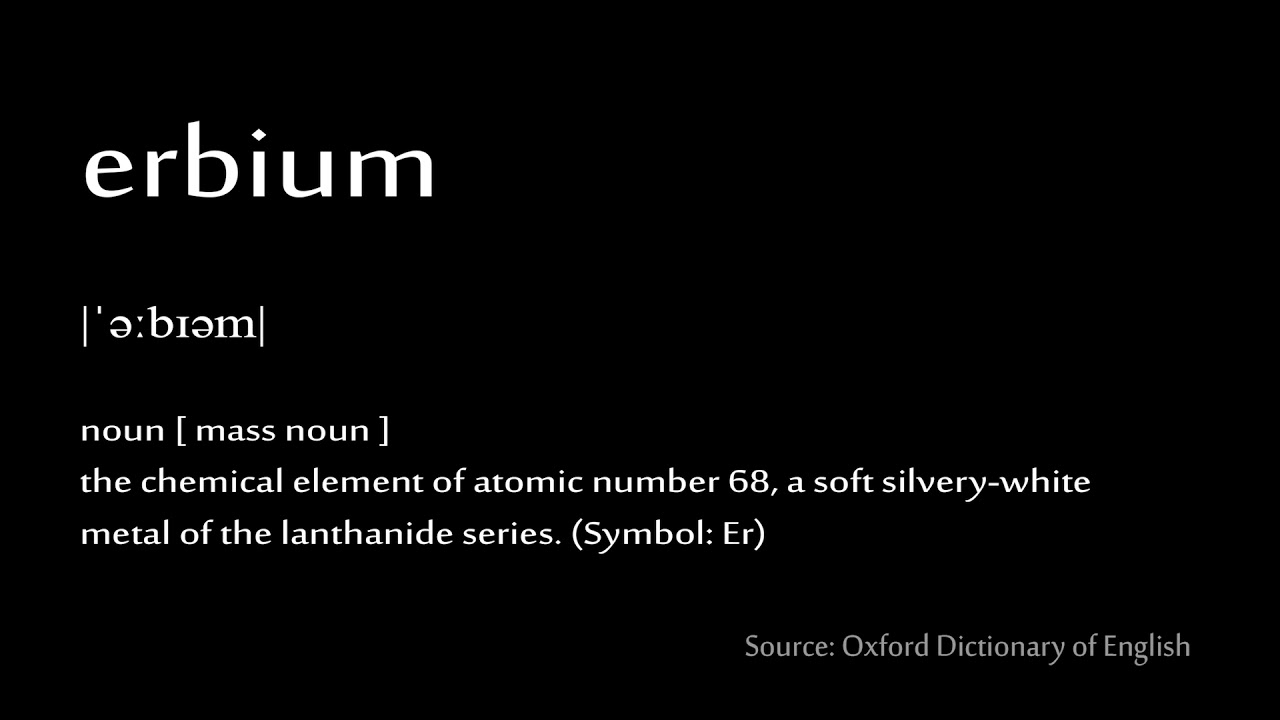 68 Erbium How To Pronounce Chemical Elements Periodic Table