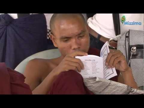 Leaders of 88 Students visit monks in Rangoon hospital