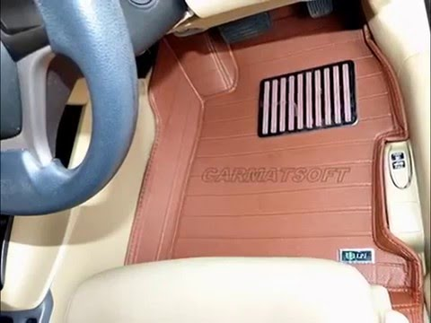 พรมปูพื้นรถยนต์ NEW CIVIC FB รุ่น 5D  สีน้ำตาล 3 ชิ้น เต็มคัน
