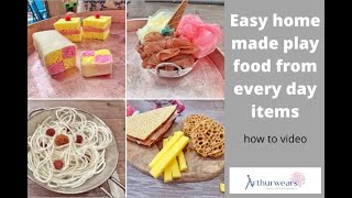 How to make easy home-made, pretend role-play food from everyday household items