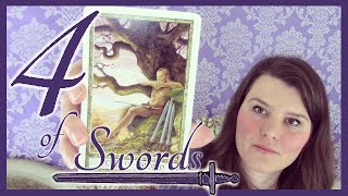 4 Four of Swords Tarot Card Meaning Upright & Reversed