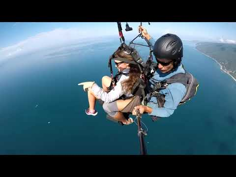 Ольга, полёт на параплане в Абхазии, Гагра резкое падение!
