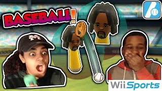 Wii Sports Baseball - 2 Players Split Screen - Evil and Muse Gaming Couple