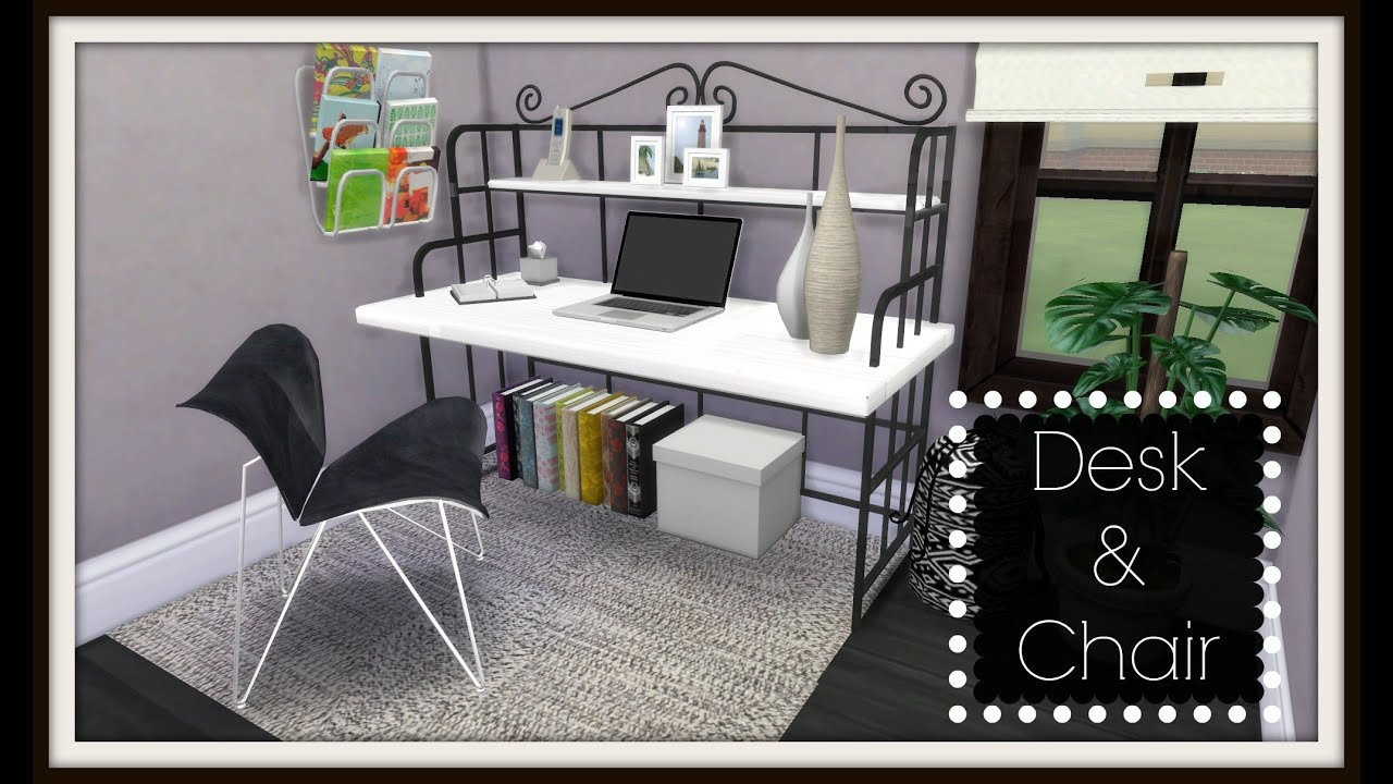 Sims 4 Office Desk Amp Chair Ts2 To Ts4 Youtube