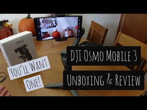 DJI Osmo Mobile 3 - Unboxing and Review - Really Awesome