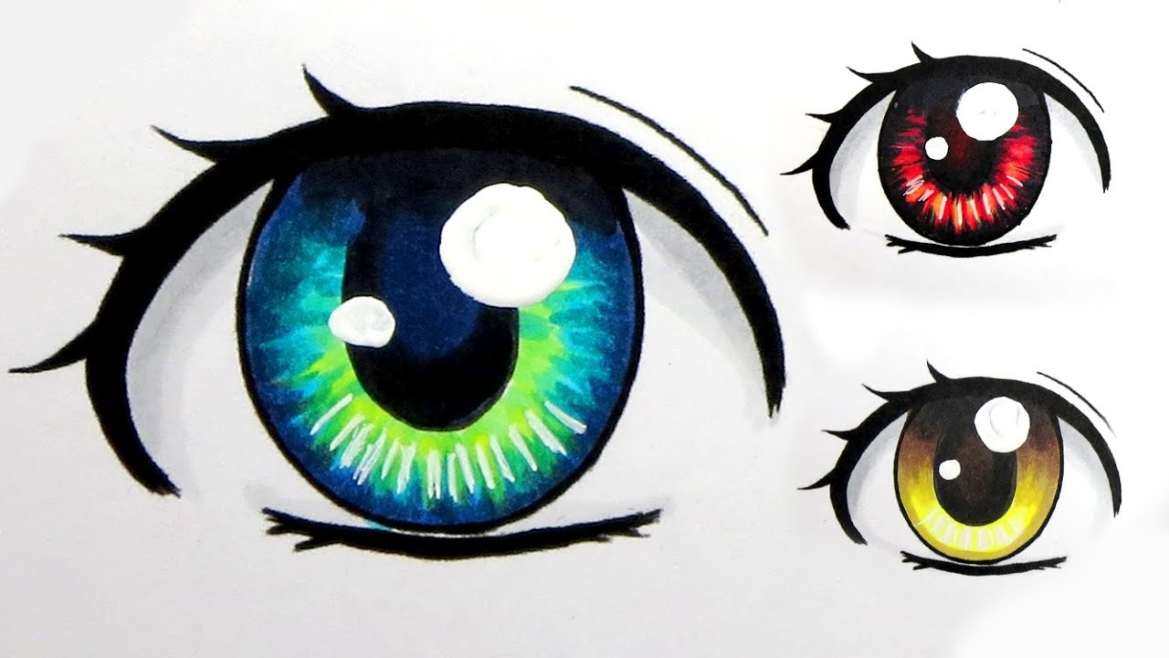 How To Colour Eyes With Copic Markers (3 Ways)