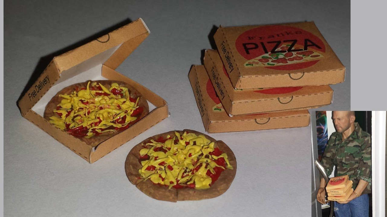 diy 1 6 scale doll miniature pizza youtube