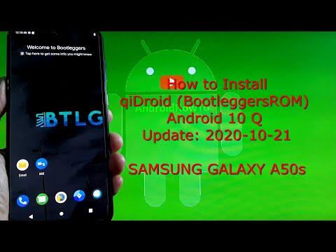 qiDroid (BootleggersROM) for Samsung Galaxy A50s Android 10 Q 2020-10-21