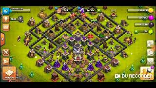 Clash of Clans - raid and watching replay of troll base