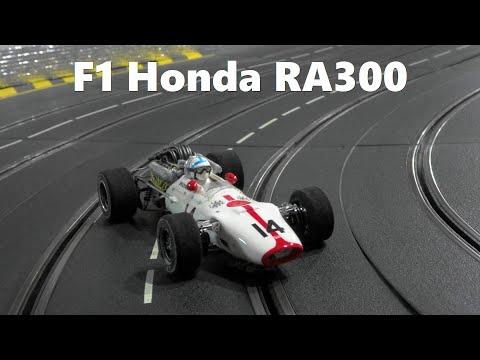 Slot Car  Honda F1 RA300 No14 1967 in Carrera Slot Car Race Track  (1/24Scale)  スロットカー  ホンダF1 RA300
