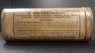 1906 US Army Emergency Ration Preserved Survival Food Testing 24 Hour MRE Review