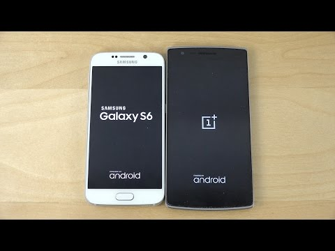 Samsung Galaxy S6 vs. OnePlus One - Which Is Faster? (4K)