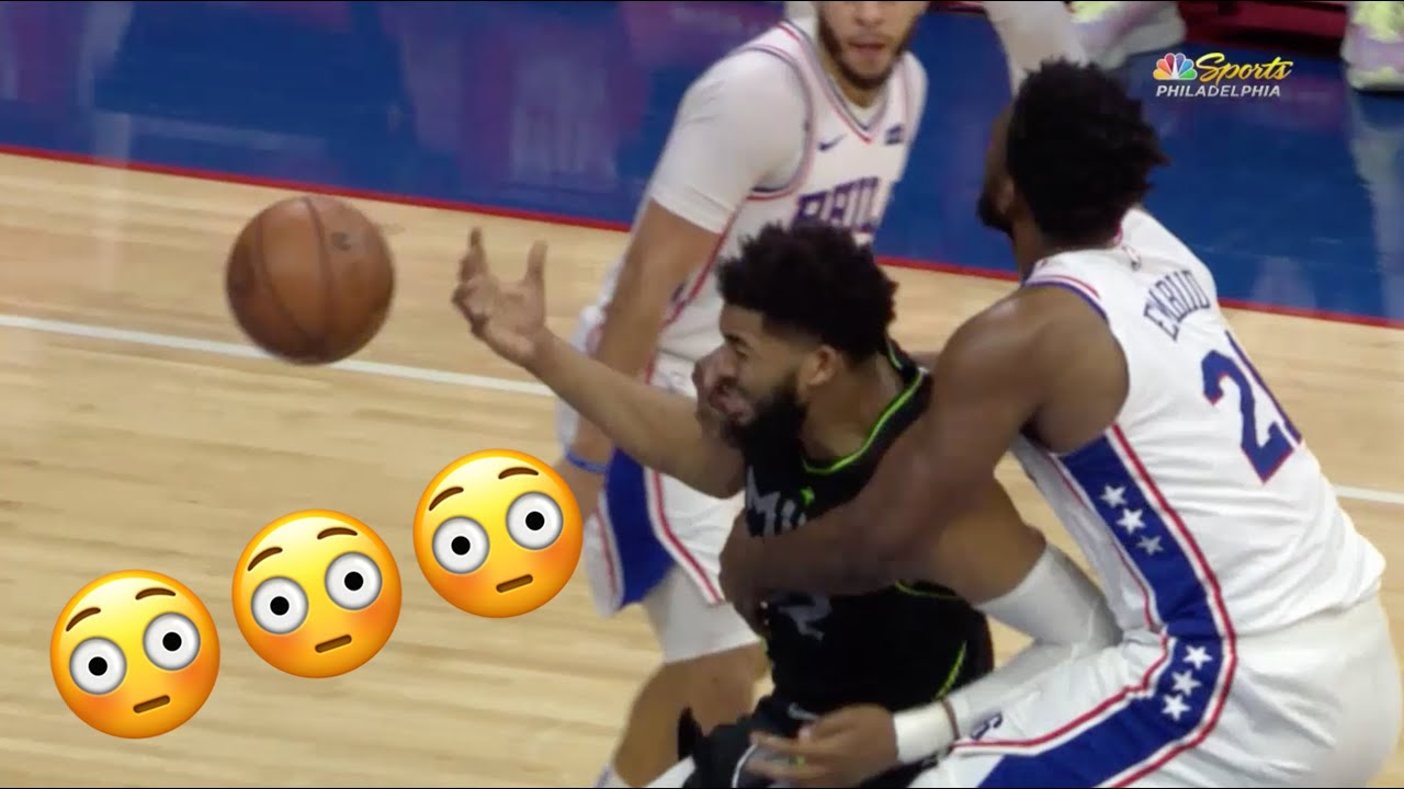 Download Joel Embiid and Karl-Anthony Towns Go At It Again