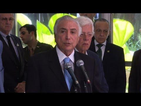 Temer viaja a Rio para implementar nuevo sistema de seguridad