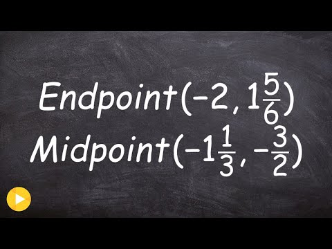 Finding one endpoint when given a midpoint and endpoint