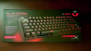 Unboxing/Overview HyperX Alloy FPS Pro Tenkeyless Mechanical Gaming Keyboard Cherry MX Red