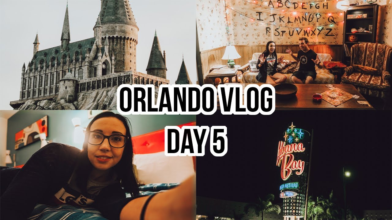 Orlando Florida Vlog Day 5: Shopping, IOA, Stranger Things experience & exploring Cabana Bay