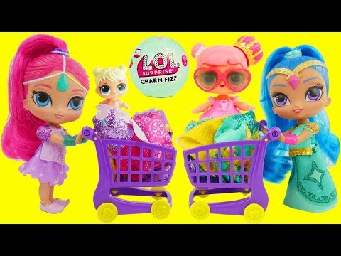 Thumbnail: LOL Surprise Dolls Shimmer and Shine Magic Color Changing with Charm Fizz Fizzy Bomb Balls Routine