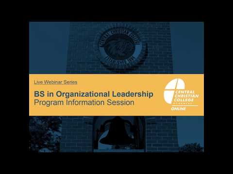 Online BS in Organizational Leadership Program | Webinar Recording