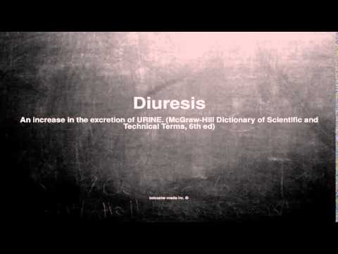 Medical vocabulary: What does Diuresis mean