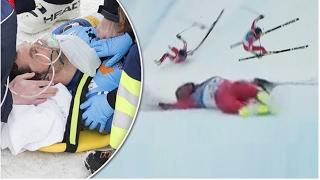 Olivier Jenot Horrorsturz in St. Moritz Ski WM 2017