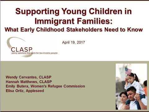 Supporting Young Children in Immigrant Families