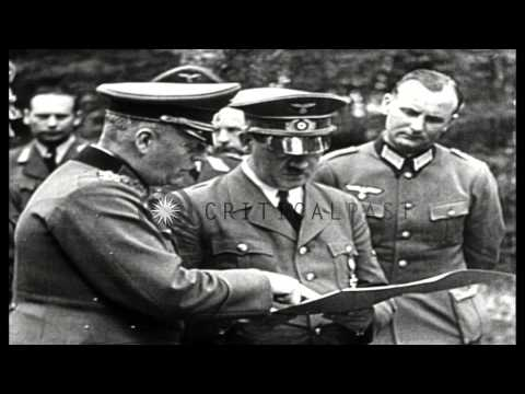 Germany concludes armistice with France in Compiegne, France during World War II. HD Stock Footage
