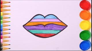 Toy Lip Coloring & Drawing For Kids