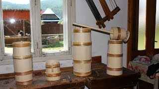 90 YO COOPER - The craft of Wooden Tankards, Butter Churns