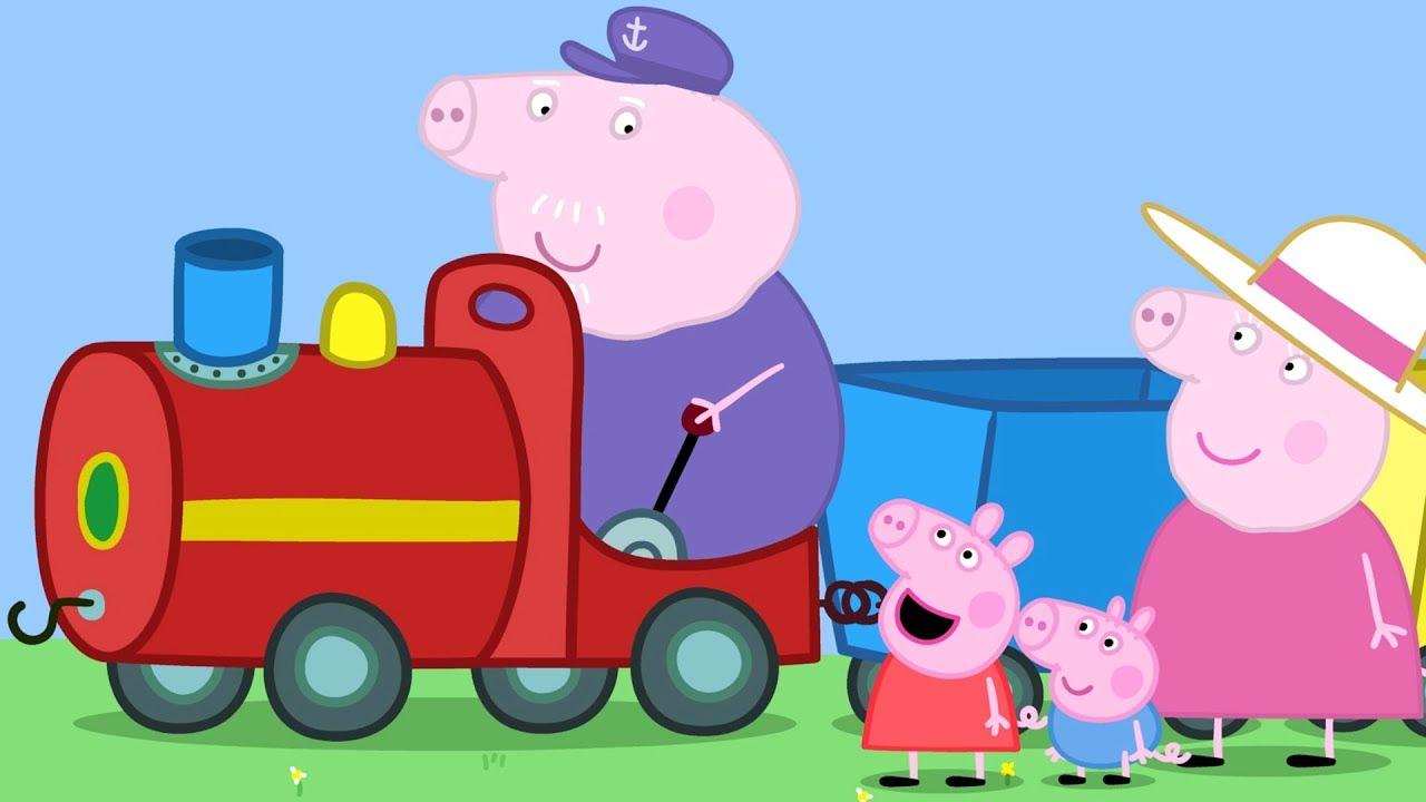 Peppa pig fran ais 3 pisodes le petit train de papy pig dessin anim pour enfant - Dessin anime de peppa cochon ...
