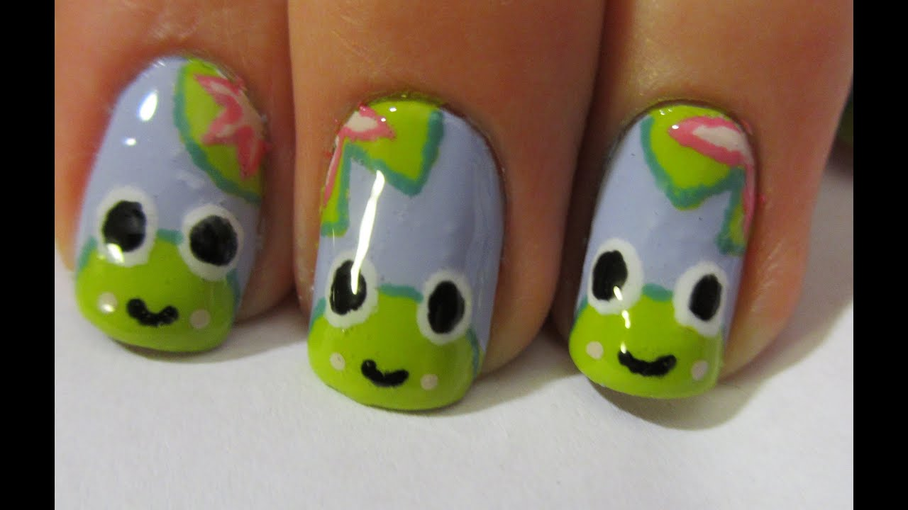 Happy frog nail art tutorial youtube prinsesfo Images