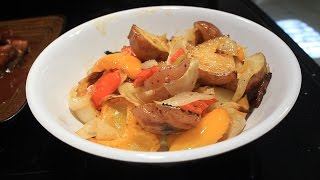 How To Cook Roasted Red Potatoes W/ Peppers & Onions