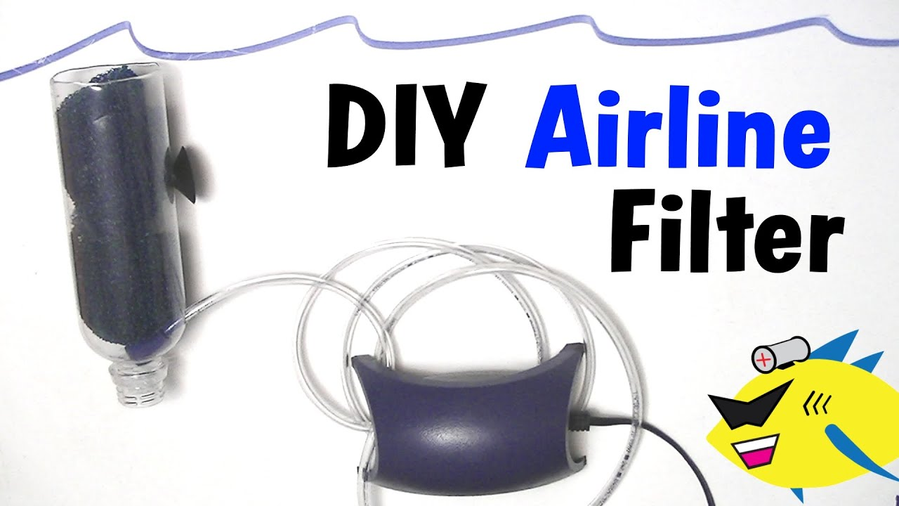 How To Make: Cheap DIY Aquarium Filter (Air Line Filter) - YouTube