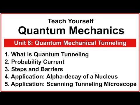 Teach Yourself Quantum Mechanics - Unit 8: Quantum Mechanical Tunneling