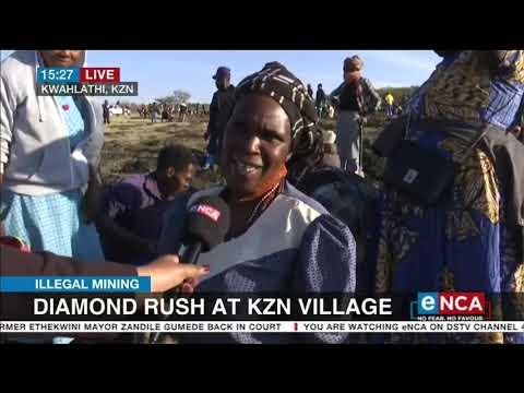 Illegal Mining   Diamond rush at KZN village