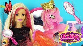 Барбі в салоні краси Мультик ляльки LOL Shopkins Розпакування КОРОЛІВСЬКИХ ПОНІ Filly Little Pony