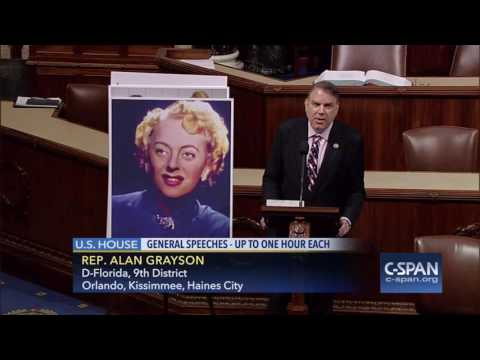 "Rep. Alan Grayson: ""I rise today to address the great American bathroom controversy.""  (C-SPAN)"