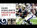 Rams vs. Saints Highlights | NFL 2018 Preseason Week 4