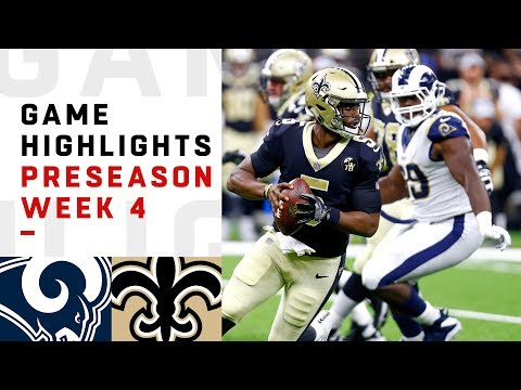 Rams vs. Saints Highlights | NFL 2018 Preseason Week 4