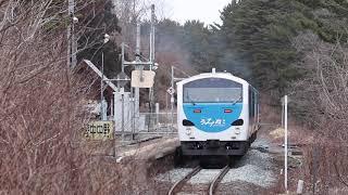八戸線 キハ48形446D 「リゾートうみねこ」 陸中中野駅発車 2020年3月15日