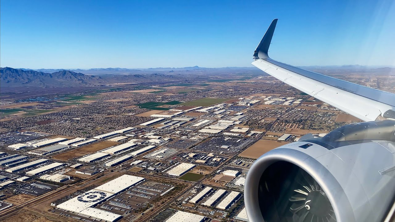 Cloudless Phoenix Landing – American Airlines – Airbus A321-200NX – PHX – N417AN – SCS Ep. 539