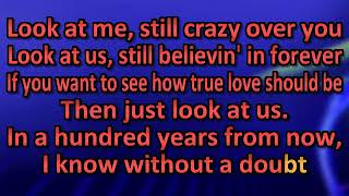 Vince Gill Look At Us [karaoke]
