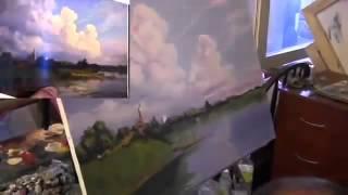 Тучи . Картина маслом Видео урок живописи