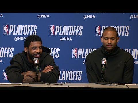 Kyrie Irving & Al Horford Postgame Interview - Game 1 | Celtics vs Bucks | 2019 NBA Playoffs