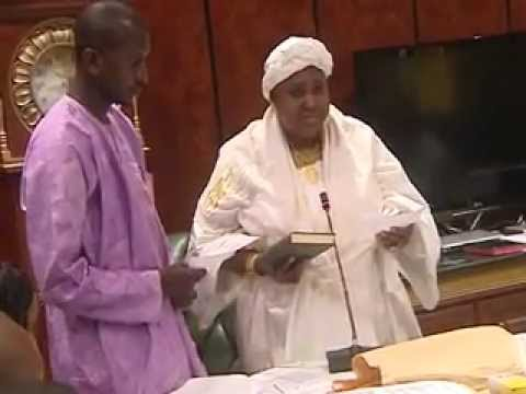 VICE PRESIDENT NJIE-SAIDY AND HEALTH MINISTER FATIM BADJIE SWORN-IN