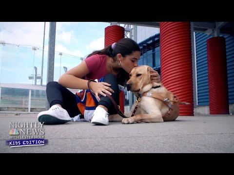 Inspiring Kids: Guide Dog Helps One Teenage Girl Fulfill Her Dream | Nightly News: Kids Edition