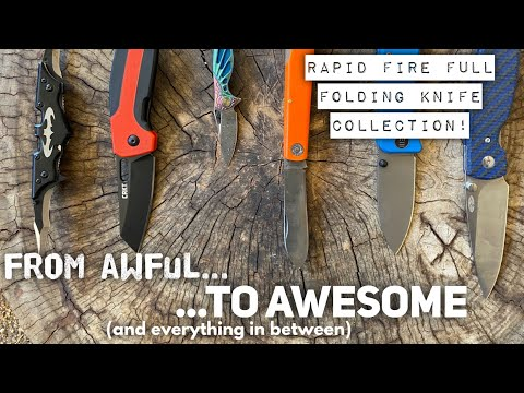 From Garbage to Great, one minute per knife, Full Folder Collection 2021