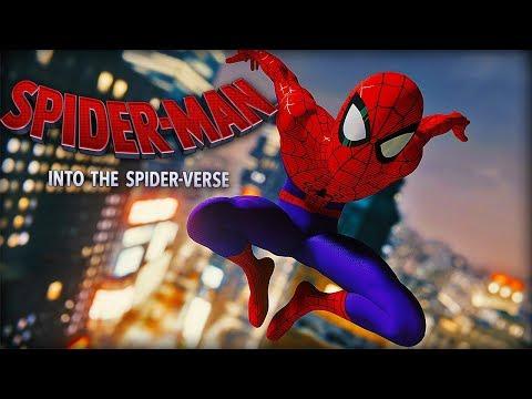 Into the Spider-Verse Spider-Man Suit Showcase (PS4 Spider-Man)