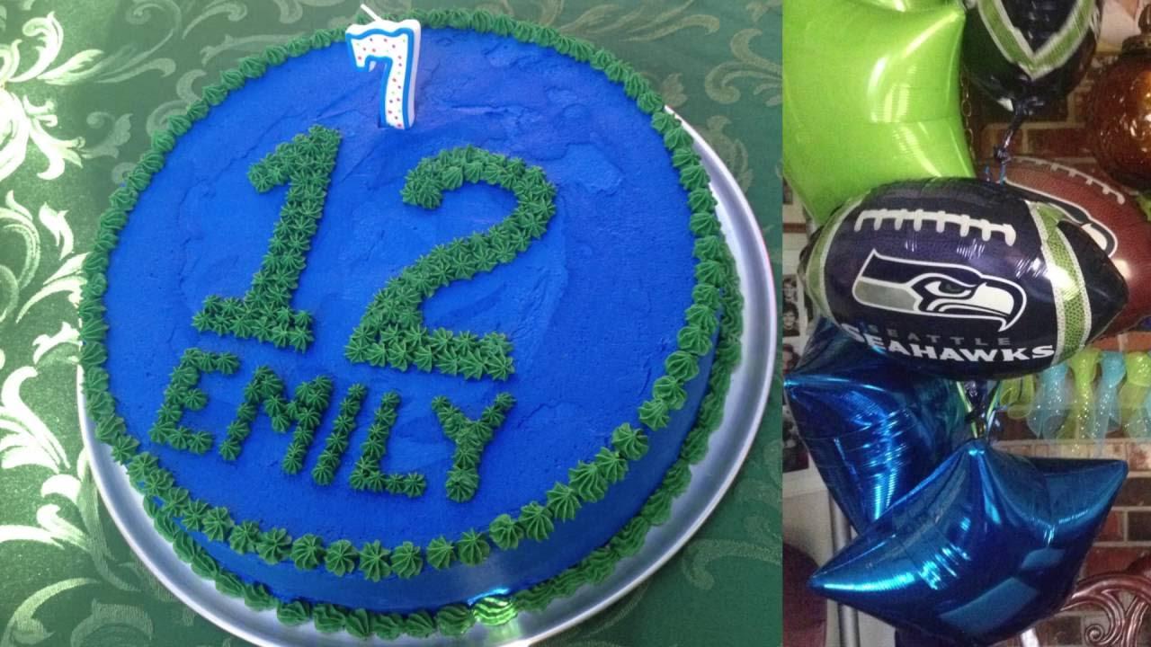 Seattle Seahawks Theme Birthday Party